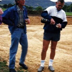 Early beginnings. John Leeson and Dave Runciman