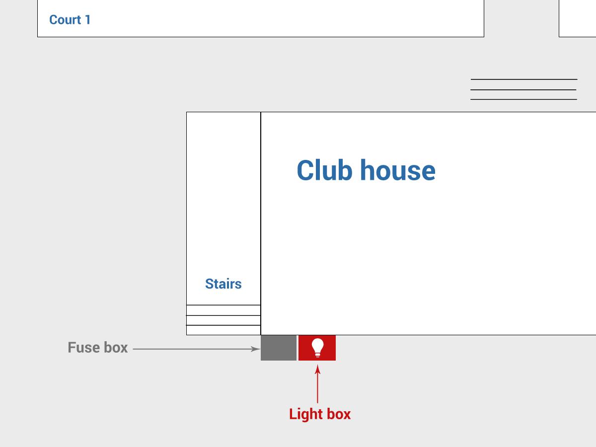 Light Box Diagram Detailed Schematics Ignition Fuse Turn On The Flood Lights Mullumbimby Tennis Club Inside